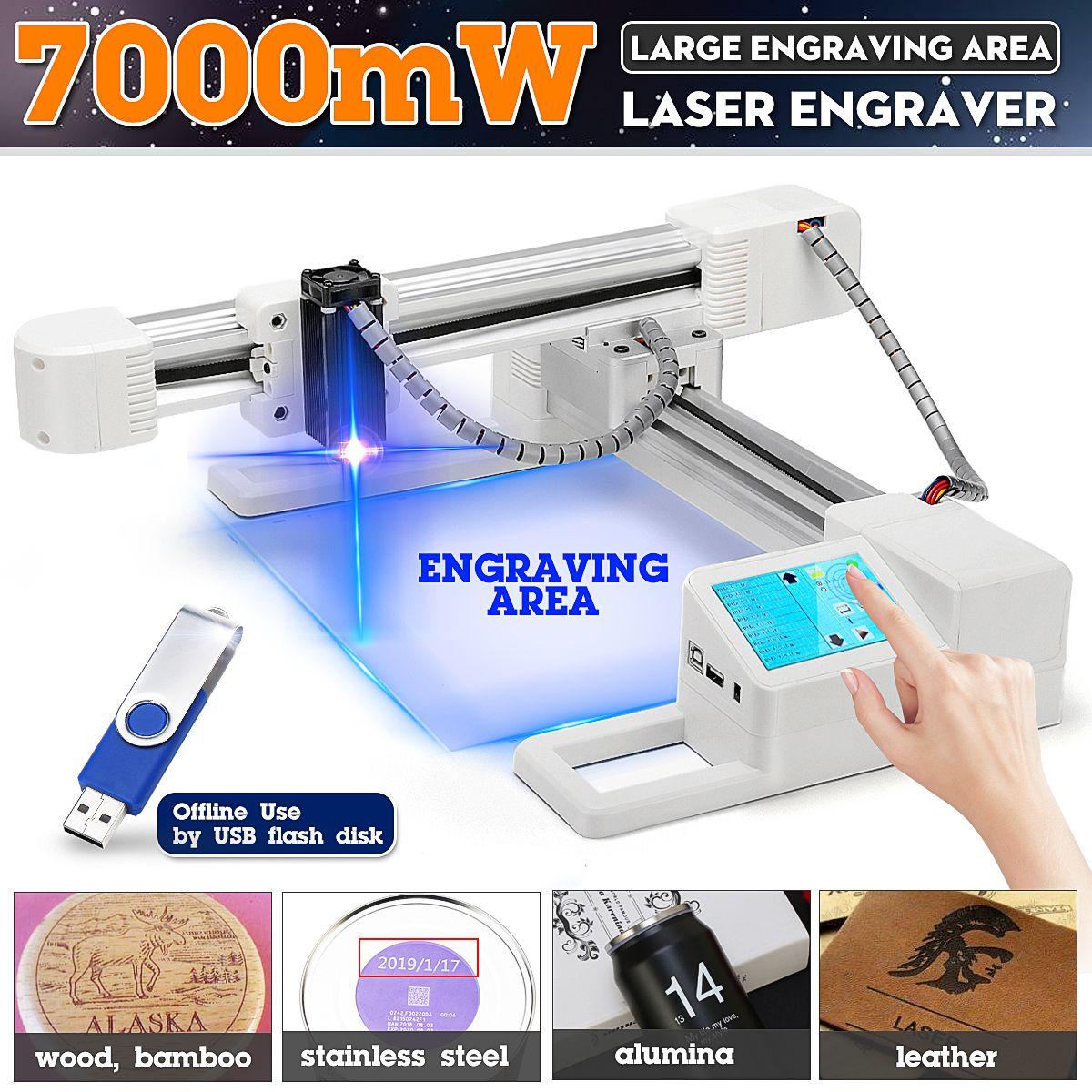7000 mW DIY Computer Laser Stecher Edelstahl Laser Cutter Kennzeichnung Maschine Logo Mark Drucker Für windows-97/ 03/7/8/10