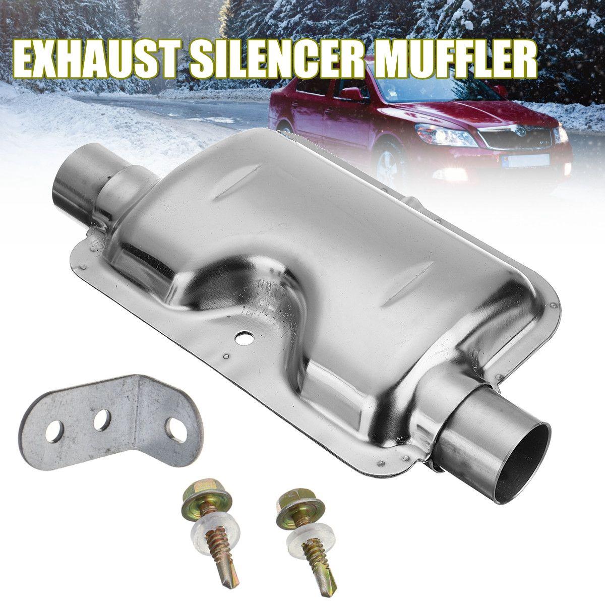 24mm/0,9 zoll Tragbare Silber Auto Abgasschalldämpfer Schalldämpfer für Webasto Eberspacher Heizung
