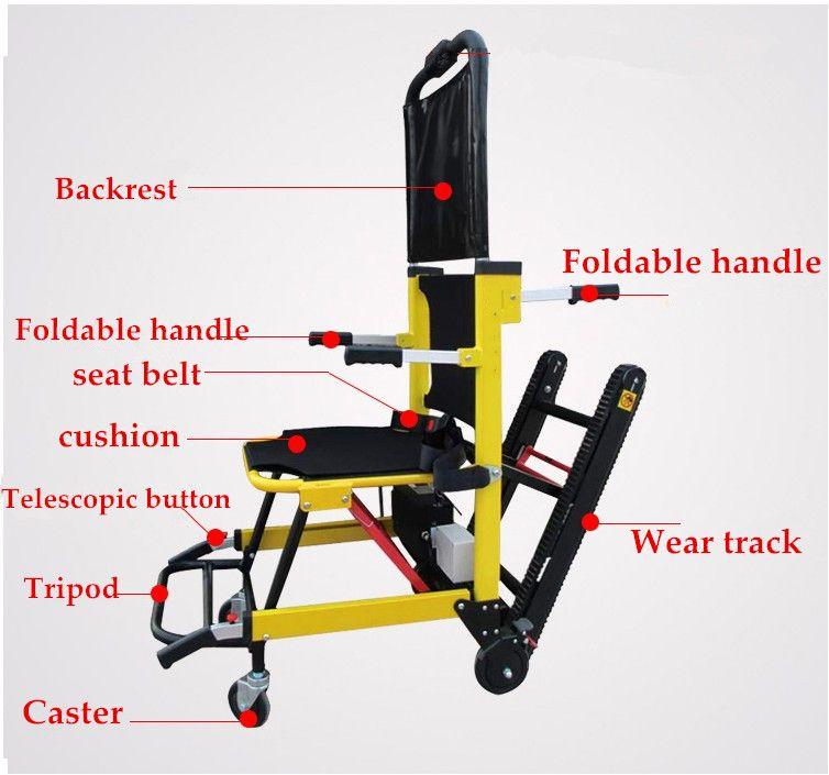 Freies verschiffen 2019 Neue design leichte stuhl lift elektrische treppen klettern power rollstühle für behinderte