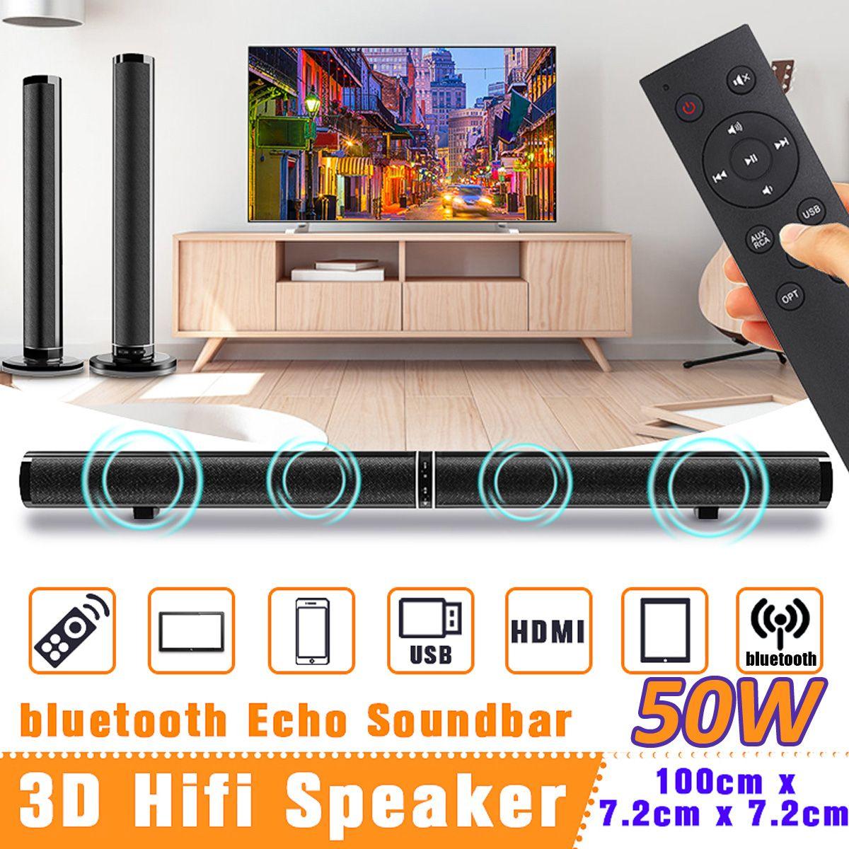 50 W Drahtlose bluetooth TV Sound Bar Lautsprecher Sub Woofer Surround Stereo Home Theatre System Computer Hängen Wand Soundbar