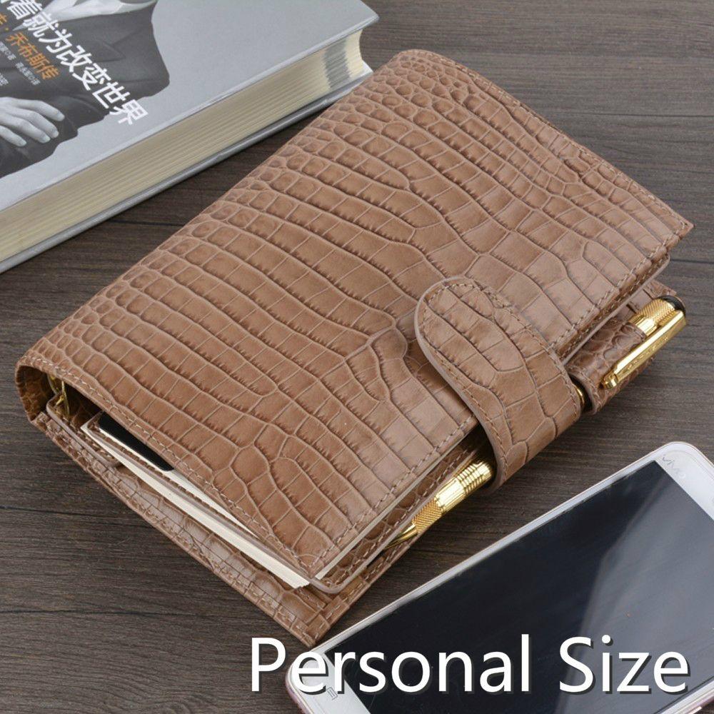 Genuine Leather Notebook Organiser Rings Binder Planner Cover Personal Size Diary Journal Sketchbook Agenda Buy 1 get 10 gifts