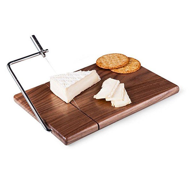 Käse slicer butter schneiden bord Schwarz nussbaum protokolle holz käse käse schneiden tisch Käse Messer Kochen Backen Messer Bord