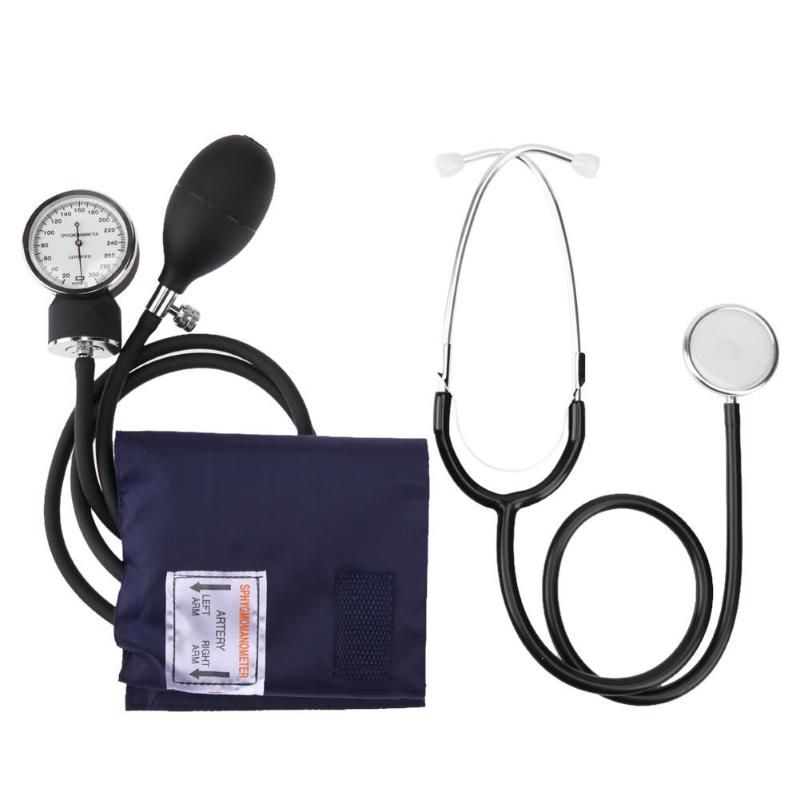 New Manual Arm Sphygmomanometer Blood Pressure Gauge with Stethoscope Monitor Device Health Monitors Health Care Dropshipping