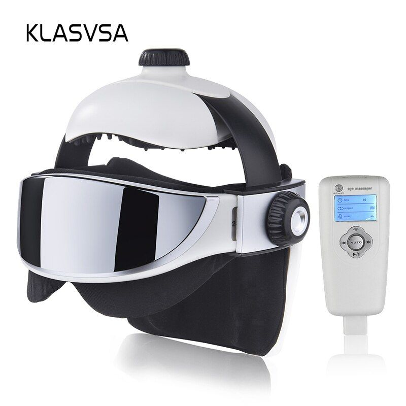 KLASVSA Electric Head Neck Massager Far Infrared Heating Vibration Eye Mask Massage Air Pressure Muscle Stimulator Health Care