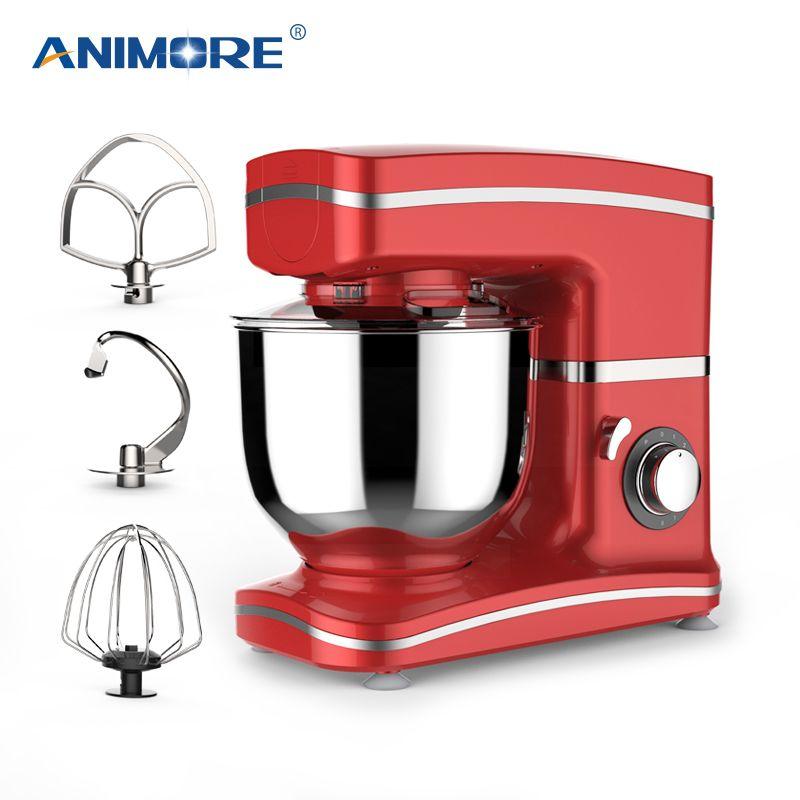 ANIMORE Küche Essen Mixer Stehen 1000 W 5.5L Edelstahl Schüssel 8-speed Creme Ei Schneebesen Mixer Kuchen Teig brot Mischer Maker