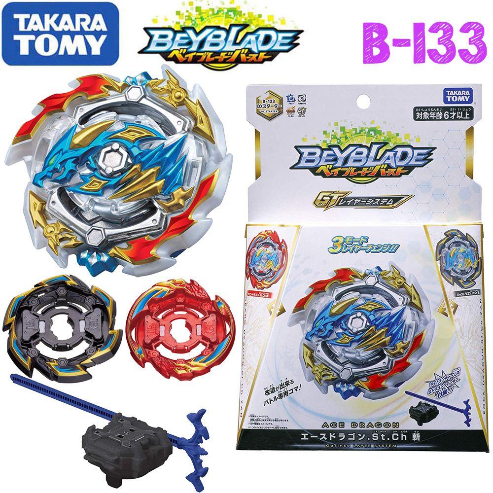 Takaratomy Beyblade Burst B-133 B-134 B-135 Ace Dragon St Ch Bay Blade With Launcher Bayblade Be Blade Gyroscope Toys For Boy