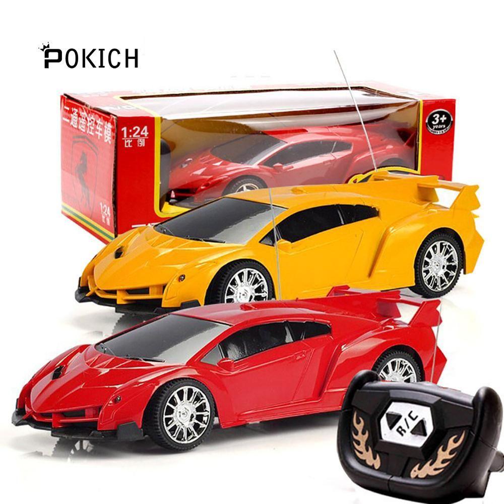 Pokich électrique Rc voitures 2 canaux dérive télécommande modèle de voiture haute vitesse course cadeau pour enfants 1:24