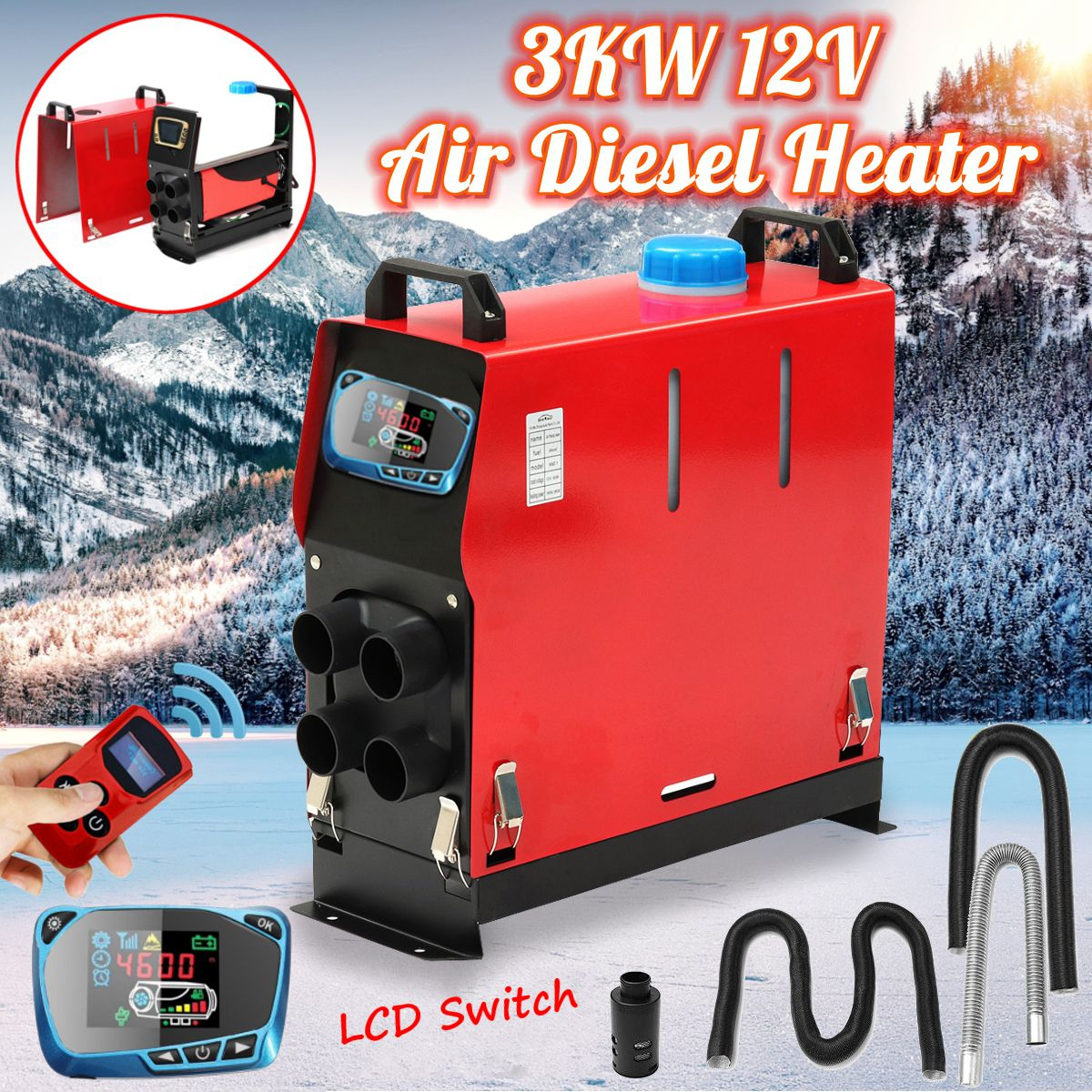 3000W Air diesels Heater 3KW 12V Car Heater For Trucks Motor-Homes Boats Bus +Newest LCD key Switch+Remote control