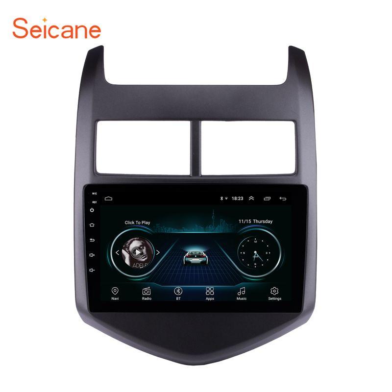 Seicane 9 Android 8.1 4-Core voiture GPS multimédia Navi stéréo lecteur pour 2010 2011 2012 2013 ChevyChevroletAVEO Soutien DVR