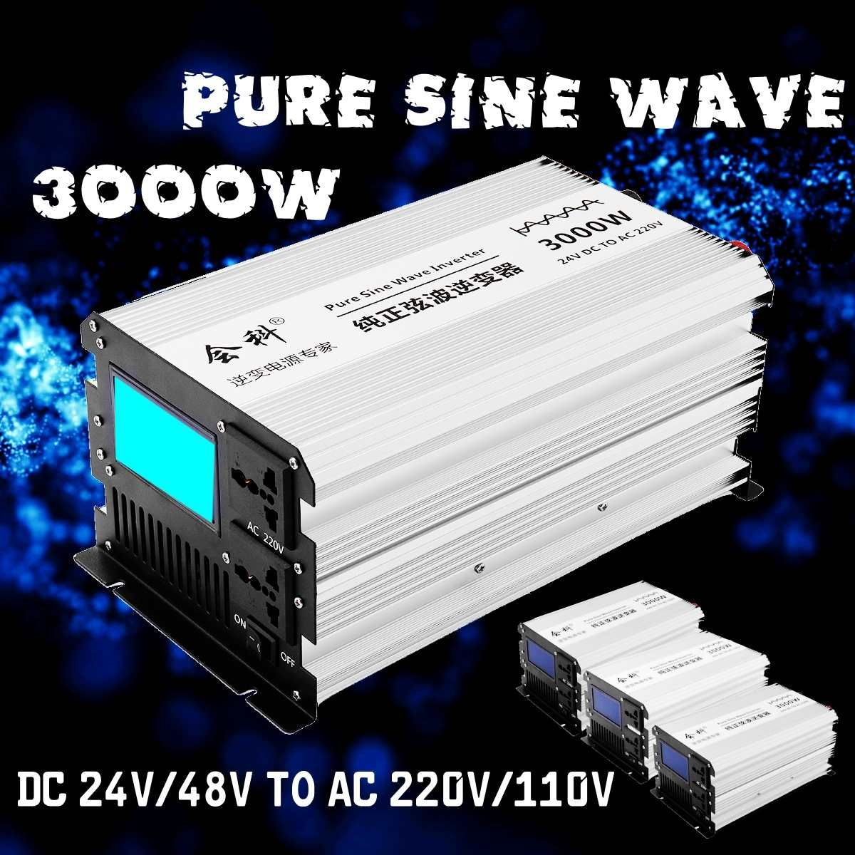 Inverter reine sinus welle 1500 W 3000 W Peaks 12 v/24 v/48 v zu AC110v/ 220 v LCD display Inverter netzteil