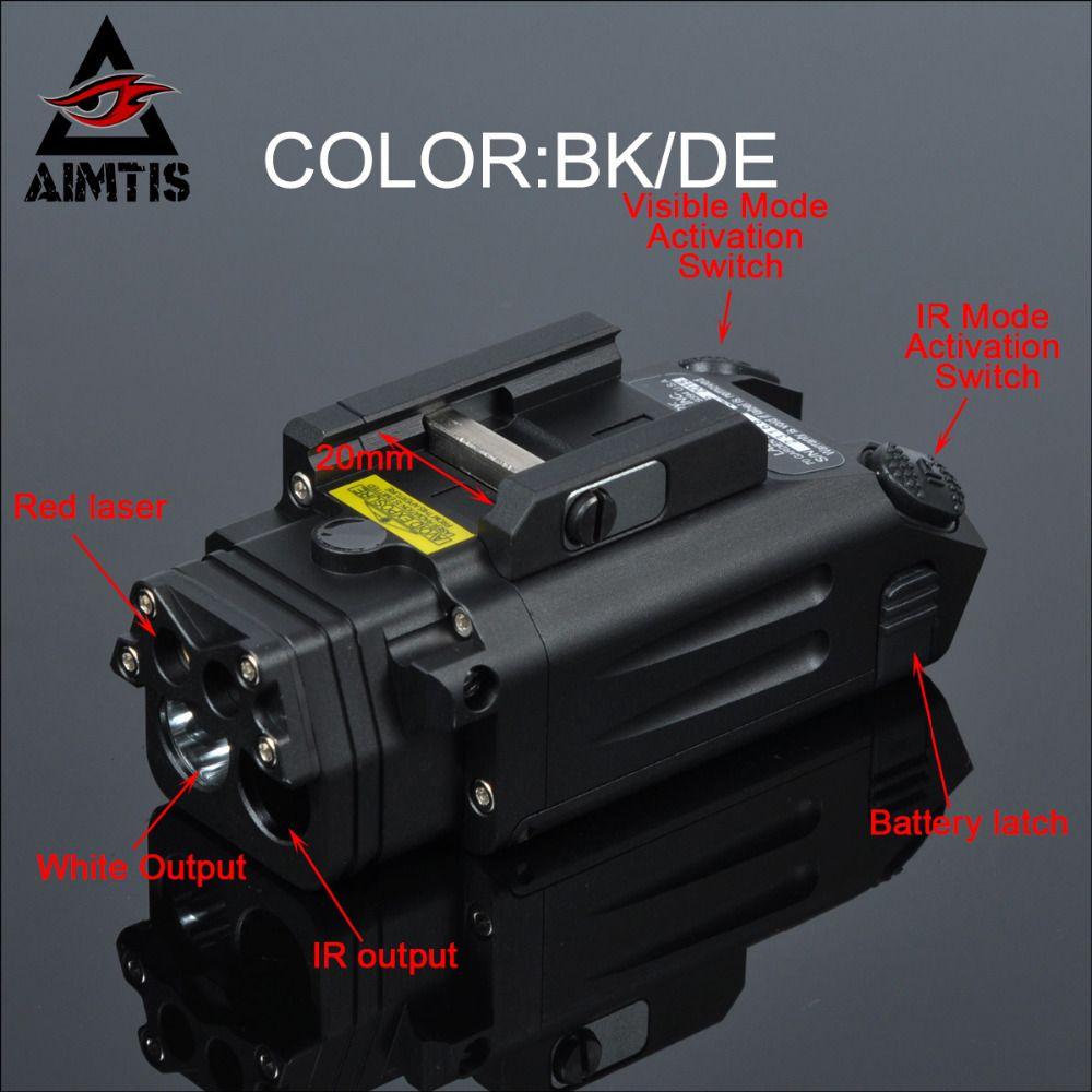 AIMTIS DBAL-PL Taktische IR Laser Licht Combo Strobe Waffe Licht LED Gun Tac Taschenlampe Mit Rotem Laser NV Illuminator