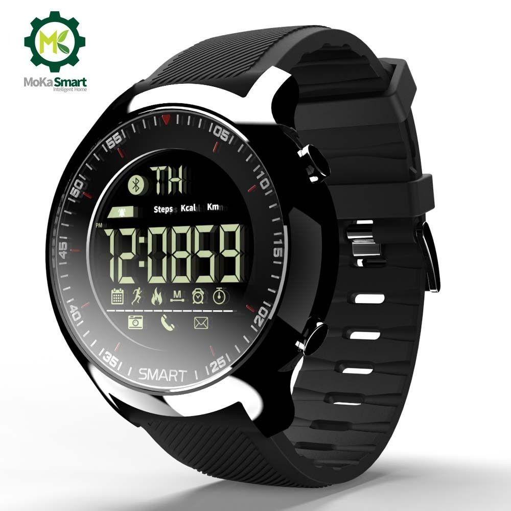 MOKA Sport SmartWatch Bluetooth étanche hommes numérique Ultra-longue veille soutien appel et SMS rappel montre intelligente pour ios