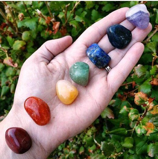 Ensemble de 7 pierres de guérison en cristal Chakra
