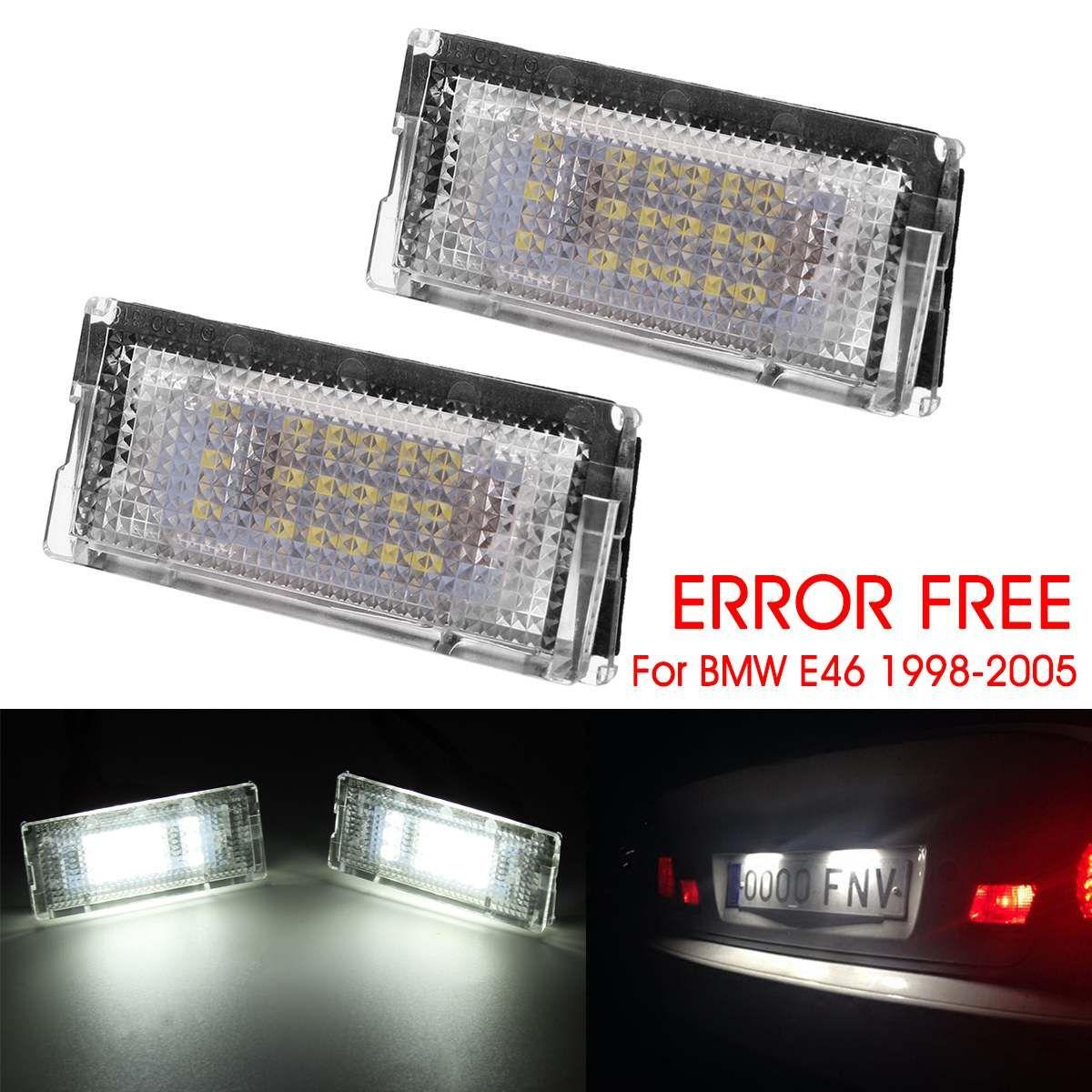 1 para 6500 karat 3528 SMD LED Lizenz Nummer Platte Lichter Weiß Canbus Fehler Kostenloser für BMW 3-serie e46 1998-2005 3 4 5 Türen