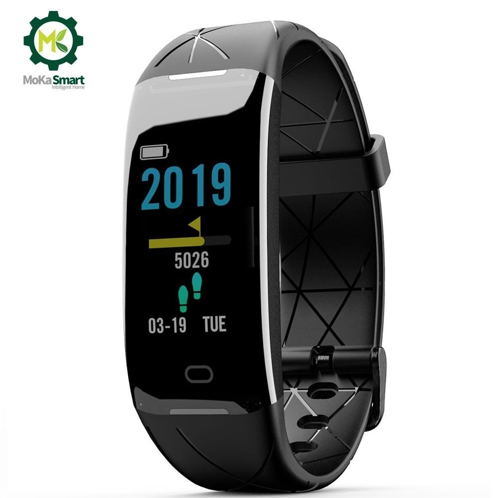 MOKA Smart wristband Heart Rate Monitor Fitness Tracker Sport Smart Band Information Remind For Ios