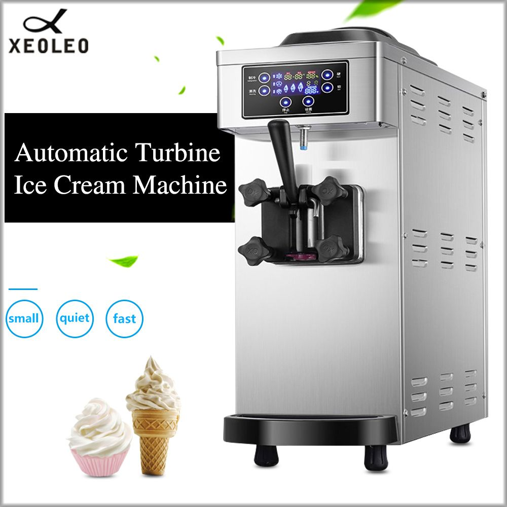 XEOLEO Einzel Geschmack eis maschine Mini Softeis maker edelstahl mit Pumpe & Frischen Kommerziellen Joghurt maschine 1100 W