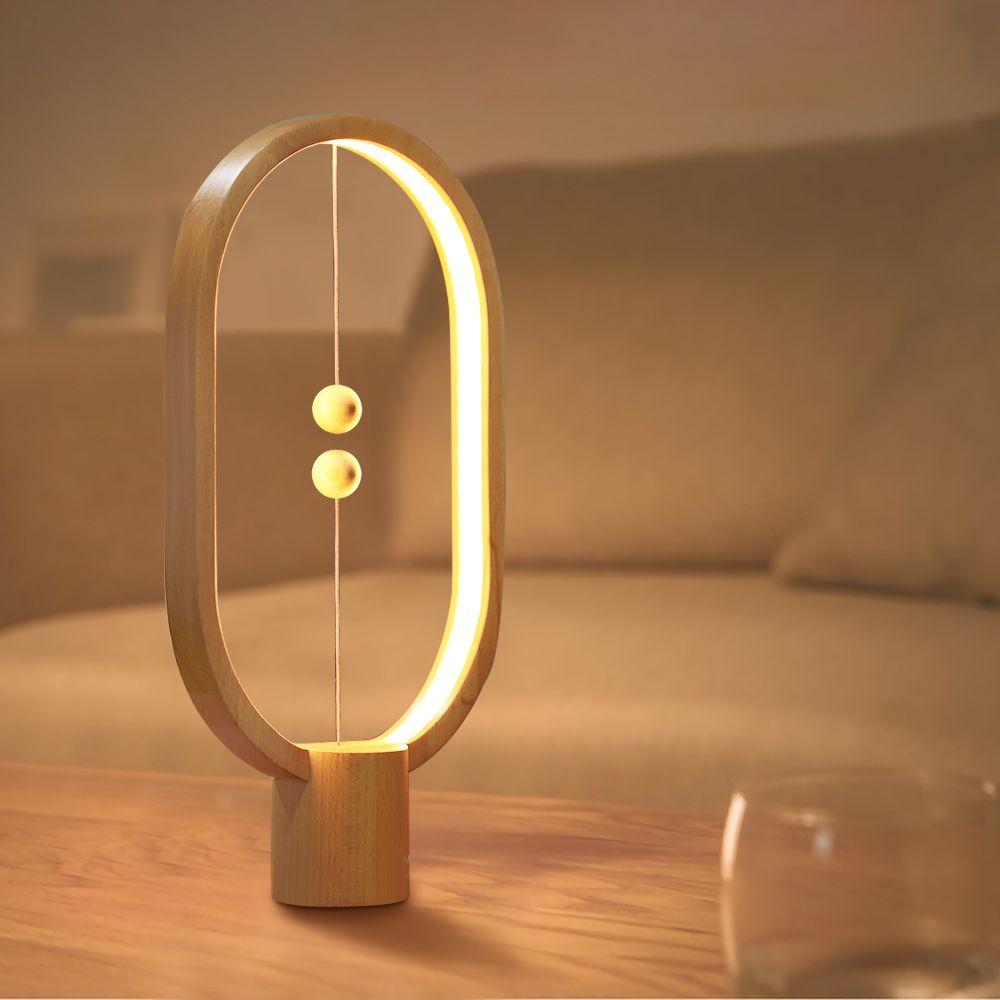 Allocacoc Heng Équilibre Lampe led Night Light USB Alimenté Chambre table de bureau Lampe de Nuit Roman décoration lumineuse pour la maison Éclairage Intérieur