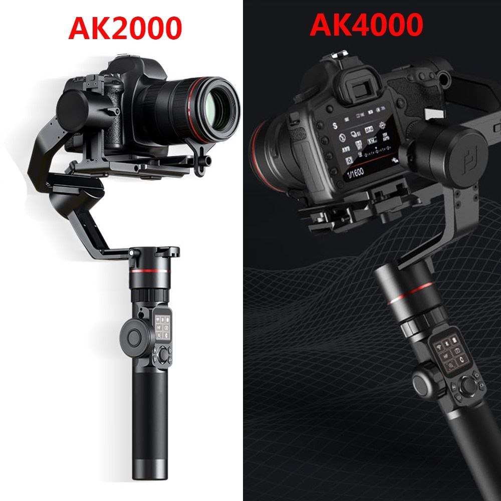 FeiyuTech AK2000 AK4000 3-Axis Camera Stabilizer Handhel Gimbal for Sony Canon 5D Panasonic GH5 Nikon 2.8 kg 4KG Payload Phone