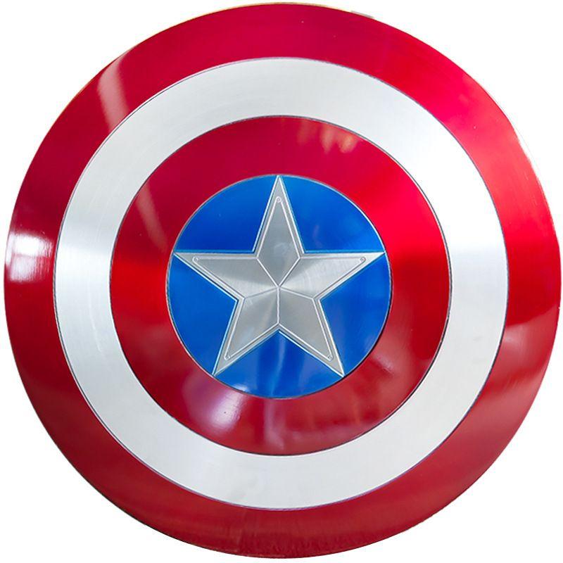 Sh65 1/1 Doppel schicht Aluminium Metall Kapitän Amerika SCHLACHT SCHADEN Schild Action Figure Movie Peripherie Avengers Steve Rogers
