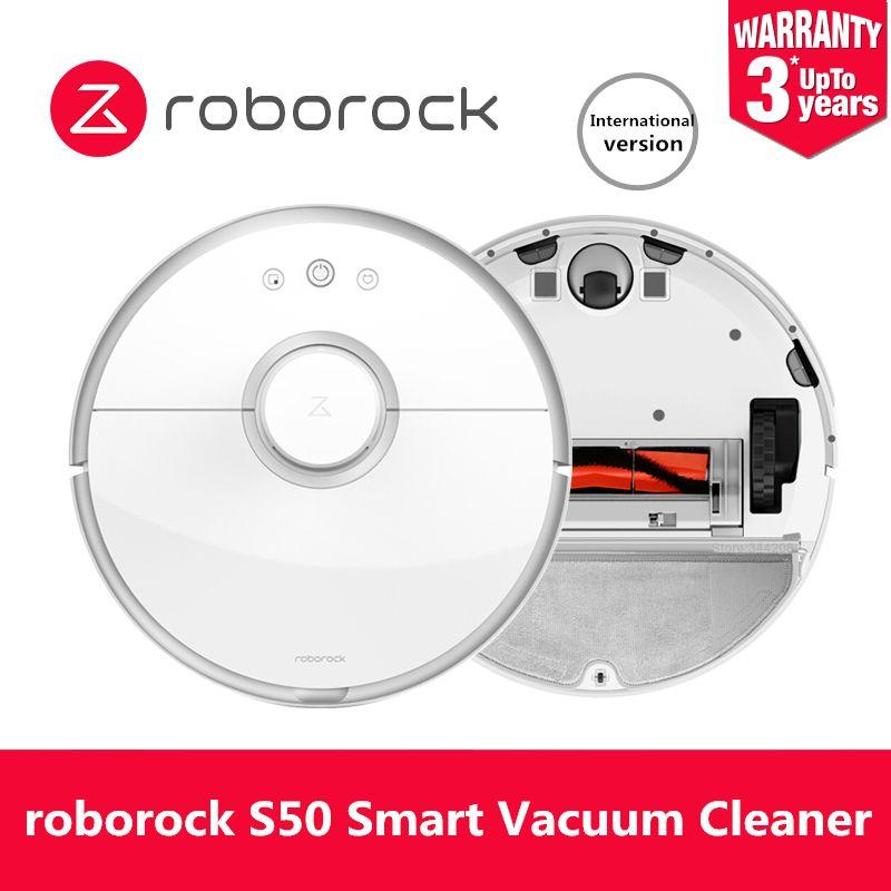 Original Roborock S50 Roboter-staubsauger Für Home Automatische Kehren Staub Sterilisieren APP Smart Intelligente Wasch Wischen
