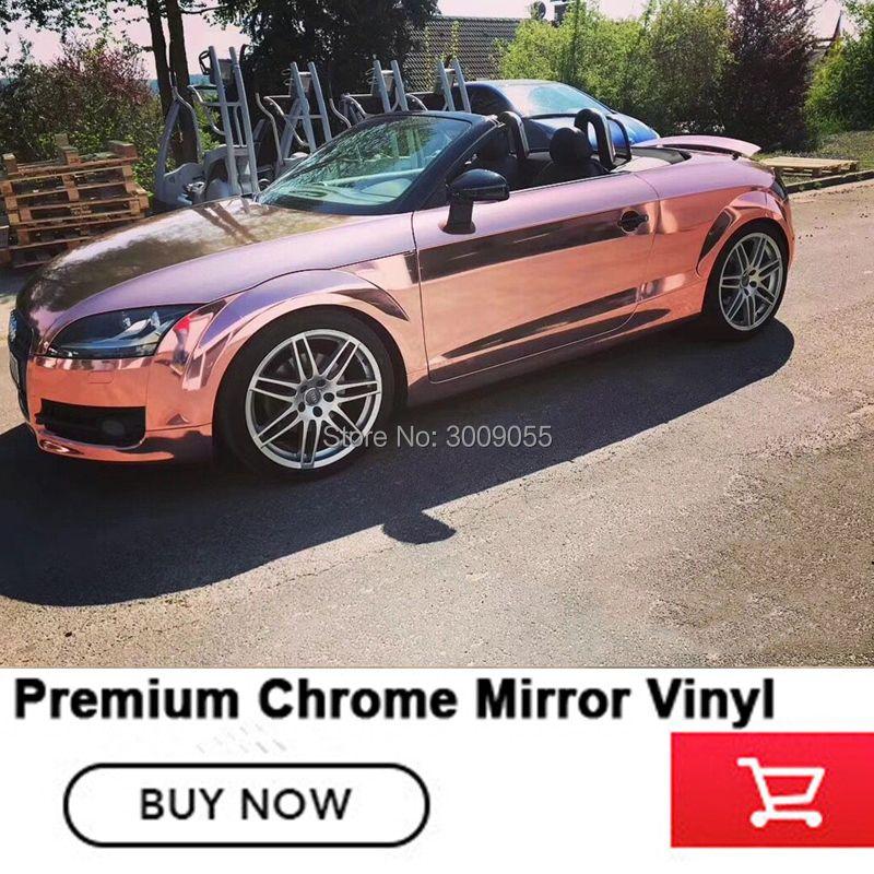 Air release kanäle chrome wrapping film Mehrere farben chrom Spiegel vinyl lösungsmittel basierend low anfänglichen tack klebstoff