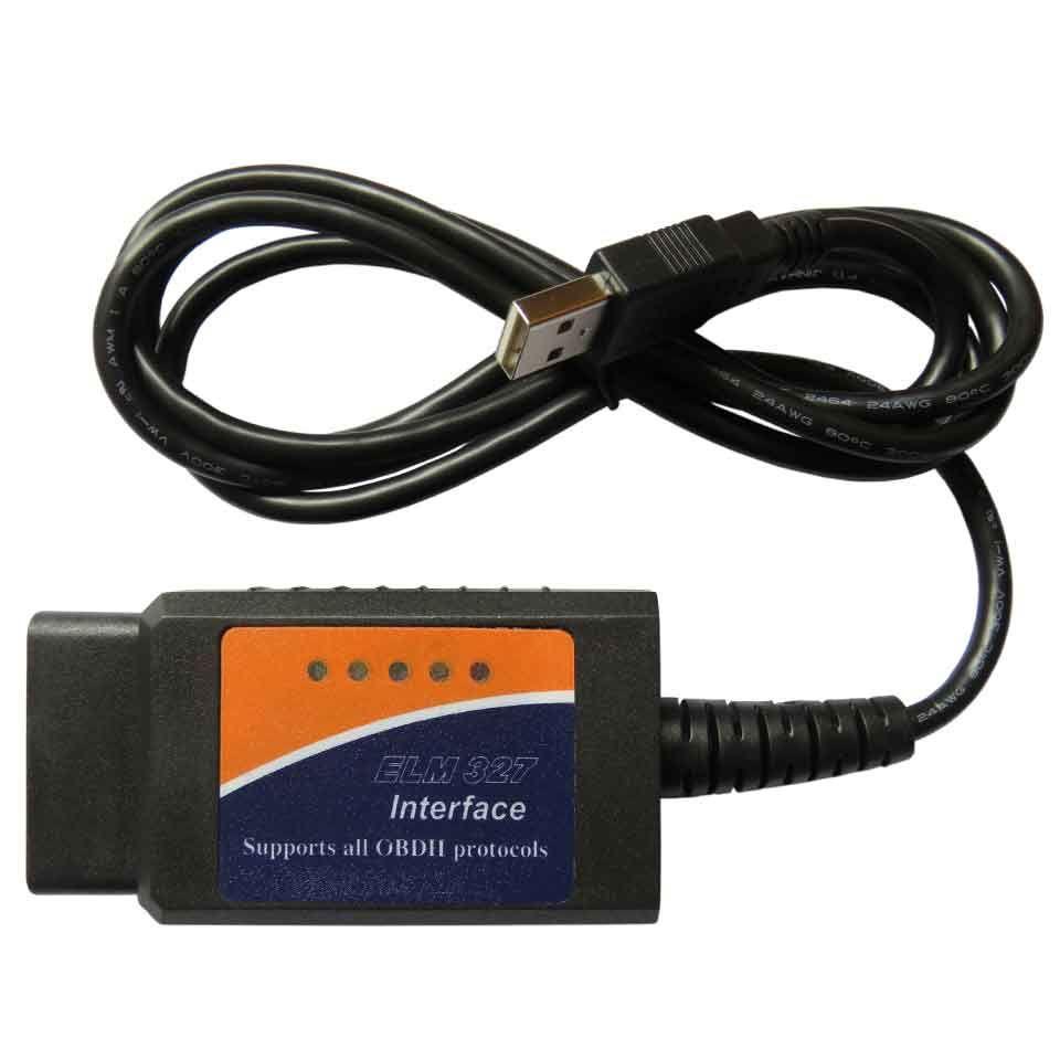Véritable puce FT232RL ELM327 USB V1.5 ODB2 Scanner d'interface de Diagnostic de voiture ELM 327 USB OBDII ELM-327 OBD 2 outil de Diagnostic automatique