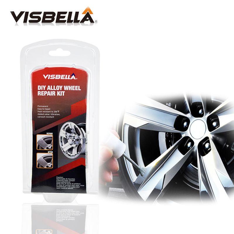 Kit adhésif de réparation de roue en alliage bricolage 5 Minutes outil de réparation de peinture argentée à usage général pour voiture