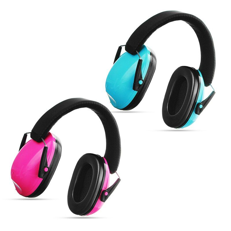 Safurance 1 stück Schwarz/Rosa Kinder Gehörschutz Gehörschutz Lärm Reduktion Kinder Ohr für Verteidiger Sicherheit Kopfhörer