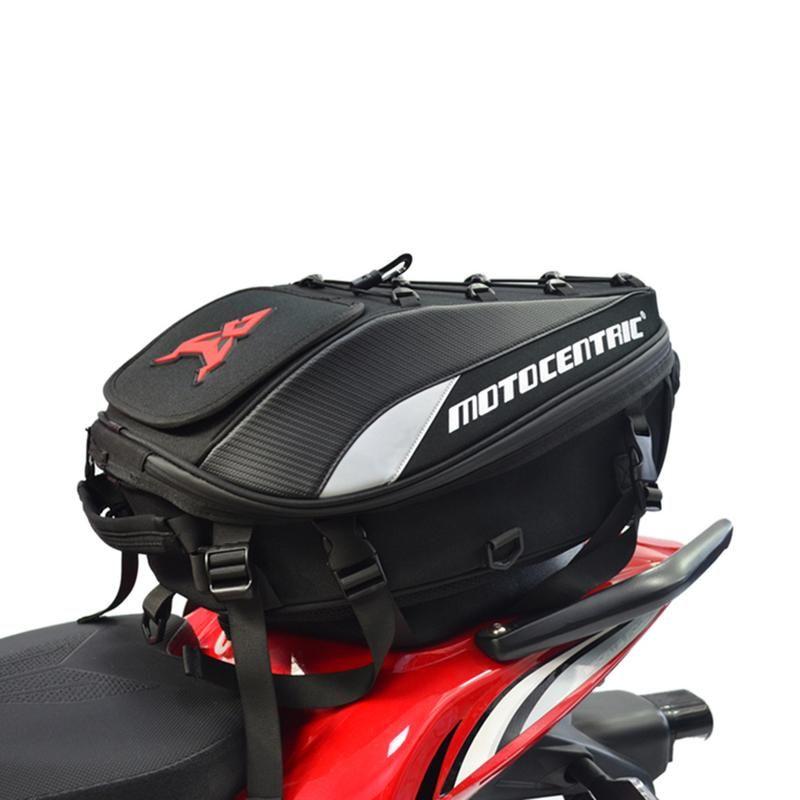 Nouveau sac de queue de moto étanche multi-fonctionnel Durable sac de siège de moto arrière sac à dos de moto haute capacité