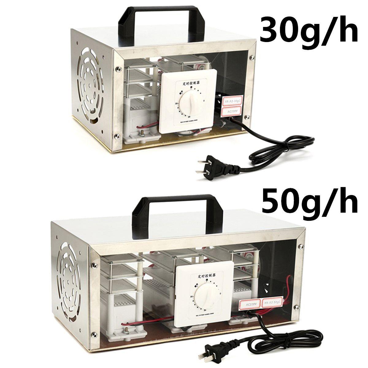 30 gr/std 50 gr/std 220 V Luft Ozon Generator Luft Purifier Sterilisator Ozonator Tragbare Ozonisator Reiniger Sterilisator mit Timing Schalter