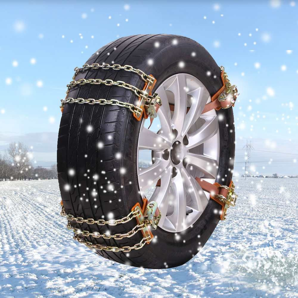 New 3 Chains Balance Design Anti-skid Chain Wear-resistant Steel Car Snow Chains For Ice/Snow/Mud Road Safe For Driving
