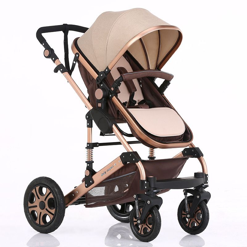 Luxury Baby Stroller 2 in 1 High Landscape Baby Prams For Newborns Travel System Baby Trolley Walker Foldable Baby Car Carriage
