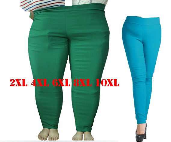 2XL 4XL 6XL 8XL 10XL grande taille femmes crayon pantalon mode grande taille femme pantalon femmes 2017 Long pantalon pour femmes noir Slim