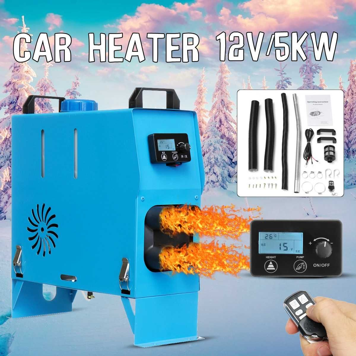 5000 watt Air diesel Heizung 5KW 12 v Auto Heizung Für Lkw Motor-Häuser Boote Bus + Neueste LCD knob Schalter + fernbedienung