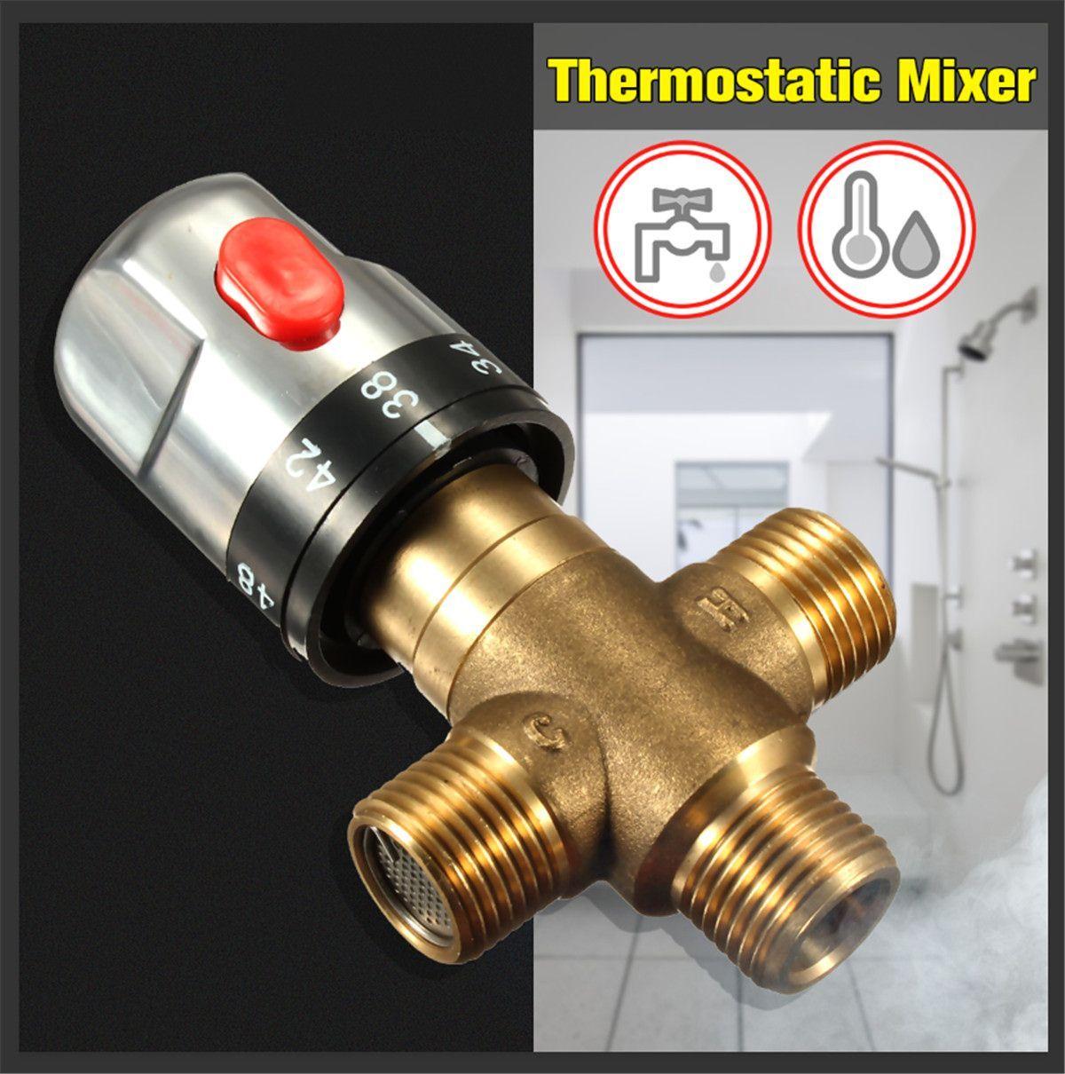 Xueqin laiton thermostatique mitigeur salle de bain robinet température mélangeur contrôle thermostatique vanne amélioration de la maison
