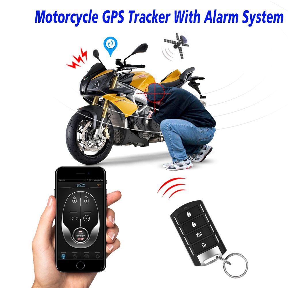 Moto GPS Tracker + moteur à distance à sens unique démarrage moto alarme avec Android et Iphone APP avec 2 télécommande