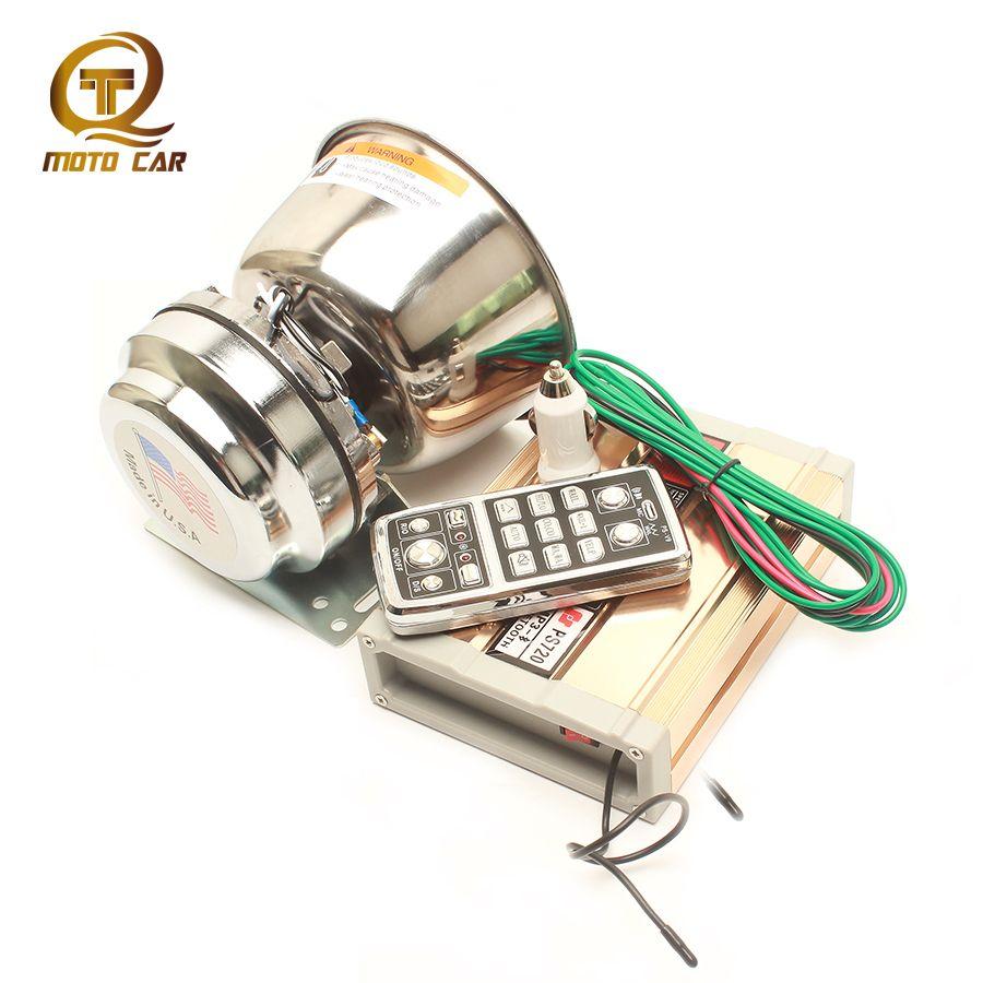 Super Loud Electric Speaker 200W Horn MP3 TF Card USB Bluetooth Police Siren Sound Megaphone Multi Tone Warning Alarm Wireless