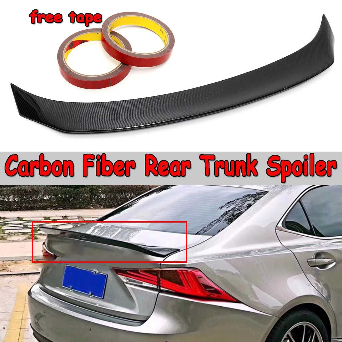 1x Für Lexus IS200t IS250 IS350 2014-2018 Real Carbon Fiber Stamm Spoiler Flügel Hinten Stamm Dach Flügel Spolier