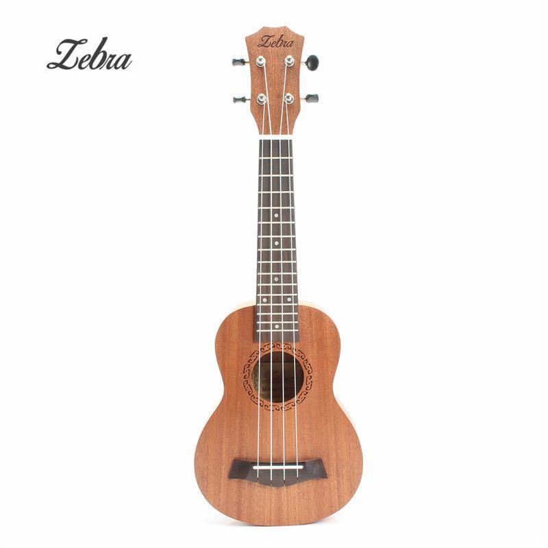 Zebra Spring 21 inch 15 Frets Mahogany Soprano Ukulele Guitar Sapele Rosewood 4 Strings Hawaiian Guitar Musical Instruments