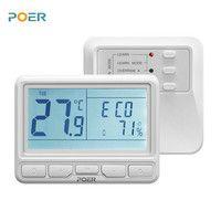 868 MHz inalámbrico controlador de sala de calderas casa suelo radiante termostato programable semanal digital wifi