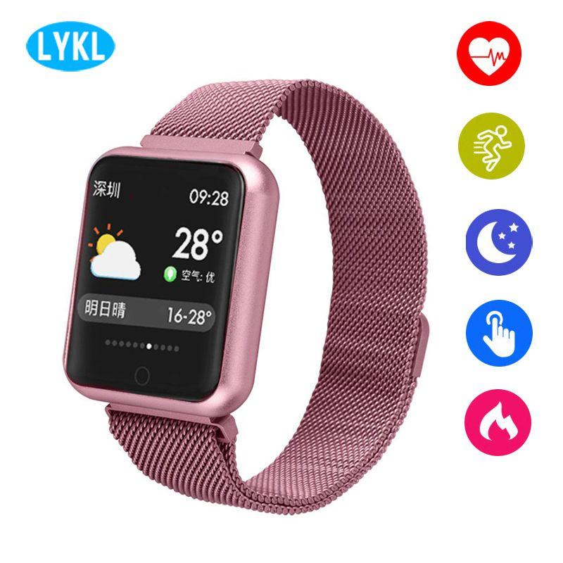 LYKL P68 Smart Watch 2018 Color Screen Blood Oxygen Blood Pressure Heart Rate Monitor Sport Activity Tracker Fitness Smart Watch