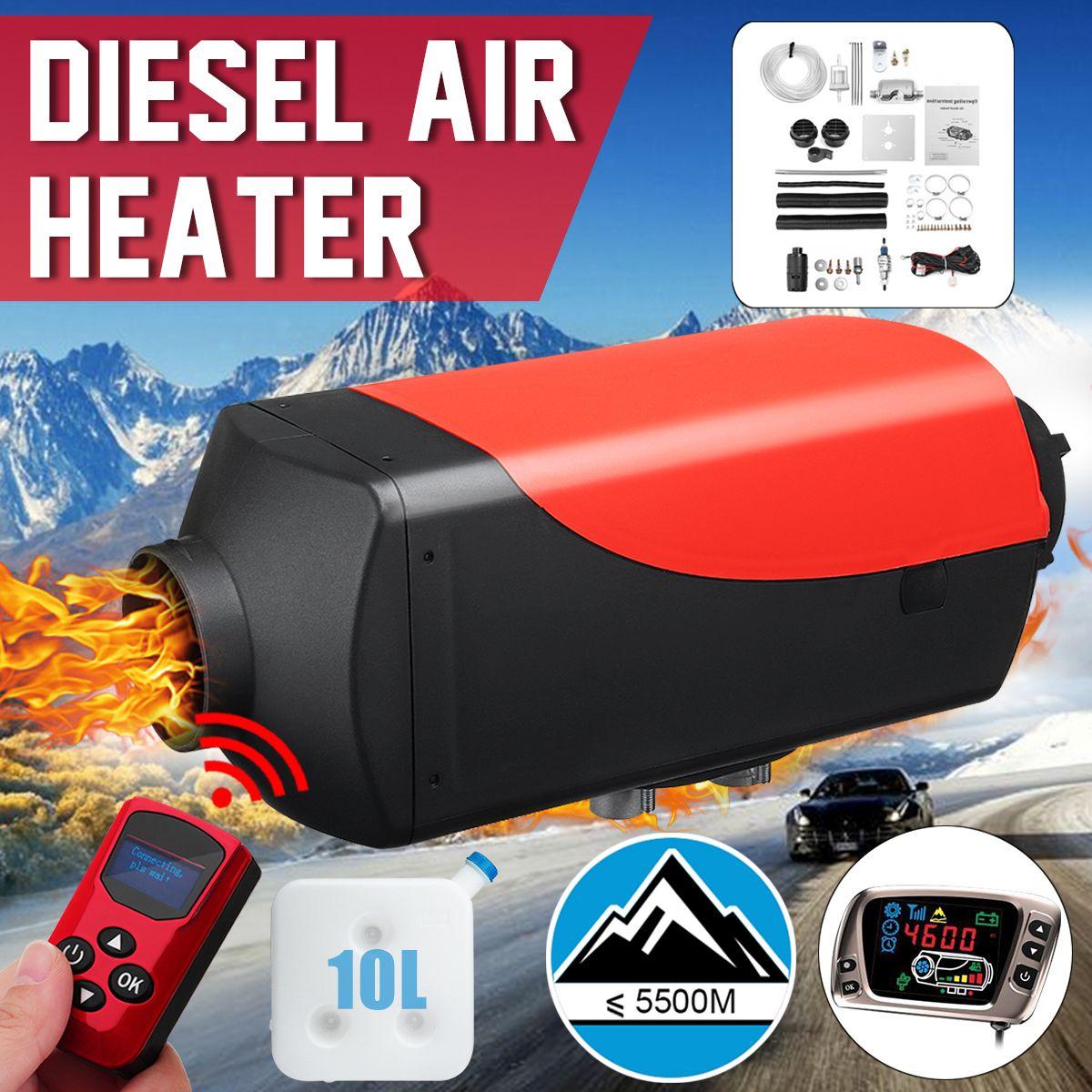 12 V 5KW Auto Parkplatz Air Diesels Kraftstoff Heizung LCD Schalter 5000 W Auto Heizung für RV Boote Wohnmobil Lkw anhänger + Remote + Schalldämpfer