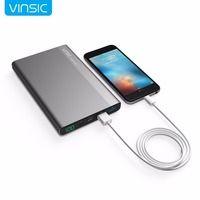 Vinsic 20000 мАч 3A тип-c Быстрая зарядка запасные аккумуляторы для телефонов Dual Smart USB выходы портативный внешний батарея зарядное устройство для ...