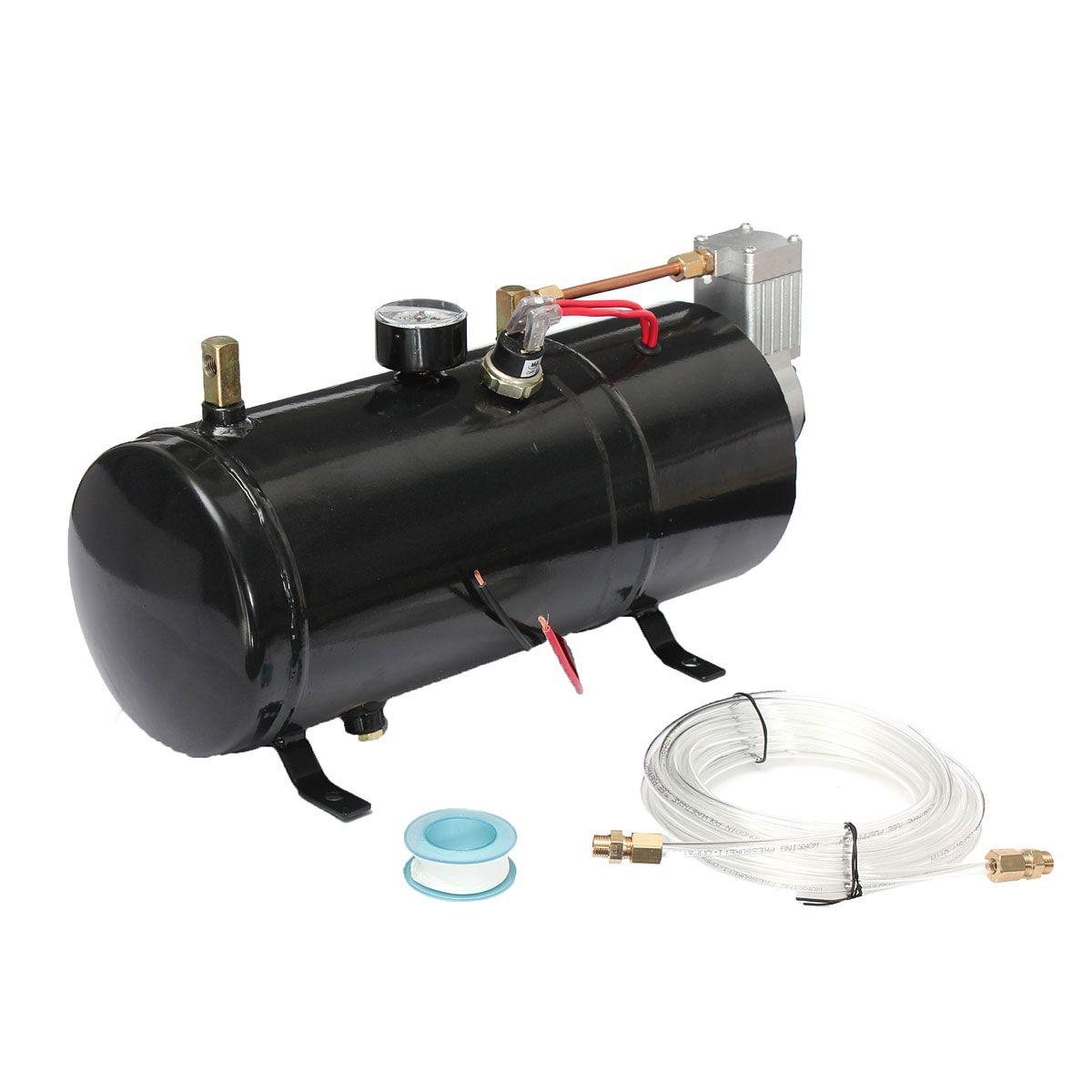 Für Air Horn Zug Lkw Auto Fahrräder Reifen l110 PSI 24 V Kompressor Elektrische Luft Kompressor mit 3 liter Tank kapazität H004 B1