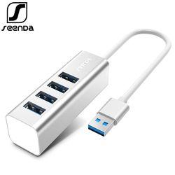 SeenDa алюминиевый usb-концентратор 2,0 внешний 4 Порты и разъёмы Портативный OTG usb-хаб для ноутбука Macbook ПК планшетный компьютер аксессуары