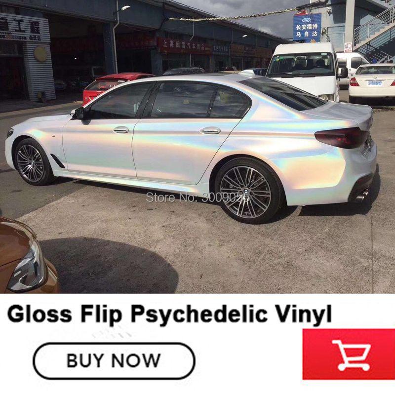 Höchste qualität weiß/grau/silber Feuerwerk vinyl wrapping film Hohe-ende Psychedelic Glanz Flip serie High- ende rohstoffe