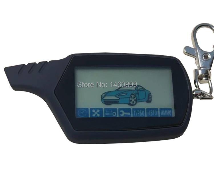 A91 2-way LCD télécommande porte-clés pour russe Anti-vol véhicule sécurité deux voies voiture système d'alarme Starline A91 porte-clés