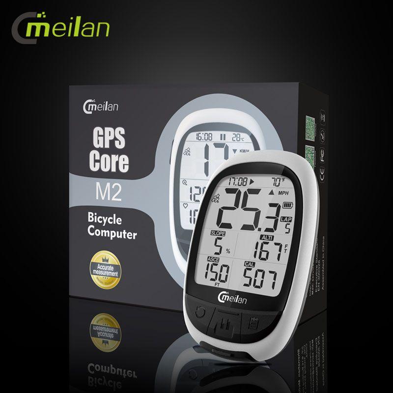 Meilan M2 GPS Fahrrad Computer Wireless Tacho Bluetooth ANT Fahrrad Kilometerzähler Speed Cadence Sensor Herz Rate Monitor Optional