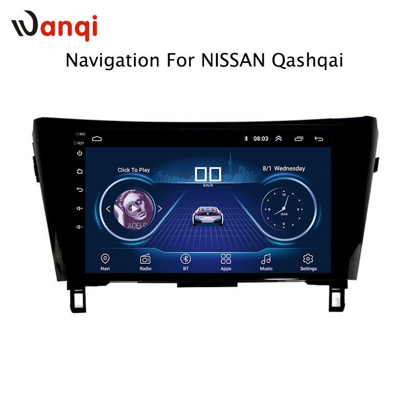 10.1 inch Android 8.1 Car DVD GPS For Nissan qashqai X-Trail 2016-2018 Navigation System Stereo Bluetooth support rear camera