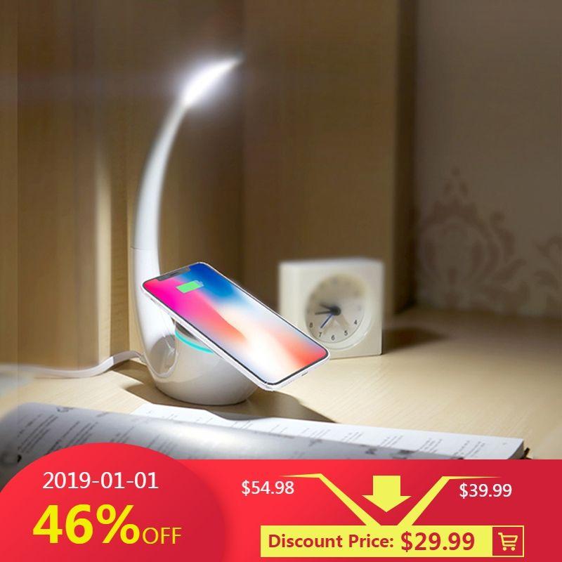 Nillkin QI Intelligent Chargeur Sans Fil Tapis de Charge D'économie d'énergie Fantôme sans fil chargeur lampe pour iPhone pour Samsung S8 Note 8